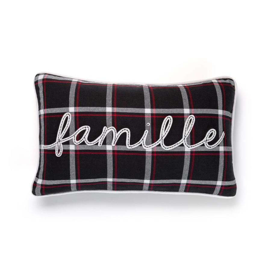 Coussin à carreaux «Famille» - Photo 0