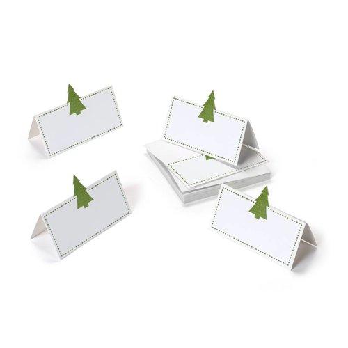 Marque-places à petit sapin vert