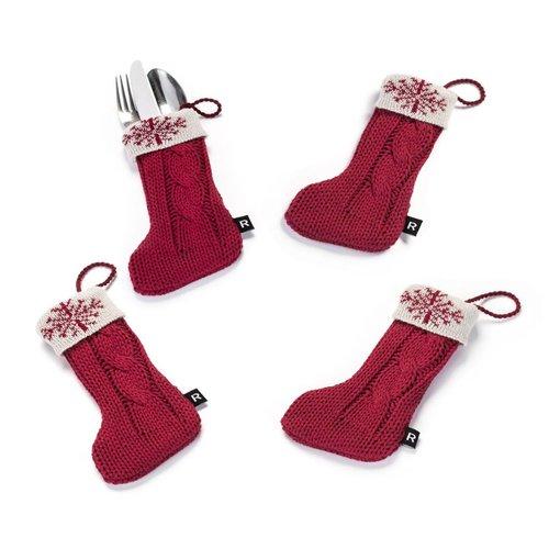 Pochettes à ustensiles « Mini-bas de Noël »