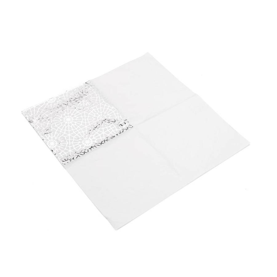 Serviettes de table en papier à motifs de flocons argentés - Photo 1