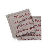Serviettes de table « Mon beau sapin, roi des forêts »