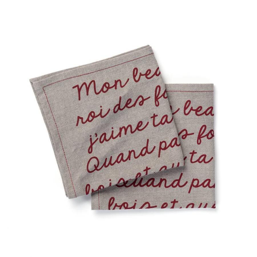Serviettes de table « Mon beau sapin, roi des forêts » - Photo 0