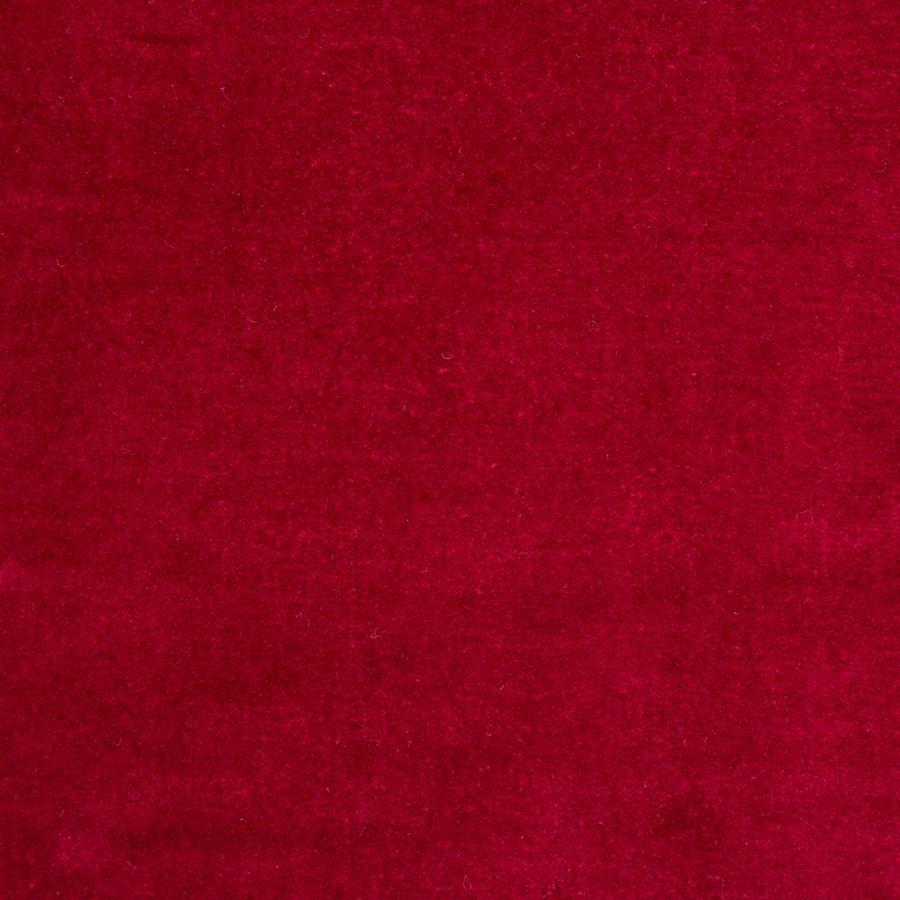 Chemin de table rouge en velours - Photo 1