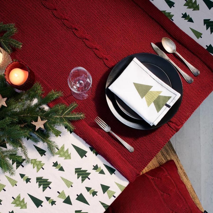 Vis-à-vis rouge en tricot - Photo 0