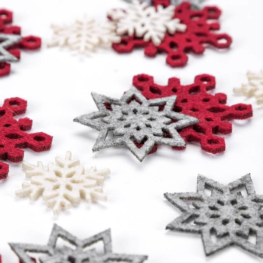 Felt Snowflake Table Ornaments - Photo 1