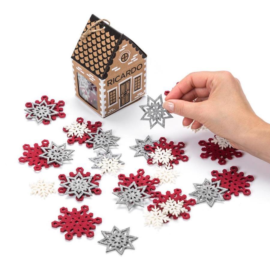 Felt Snowflake Table Ornaments - Photo 0