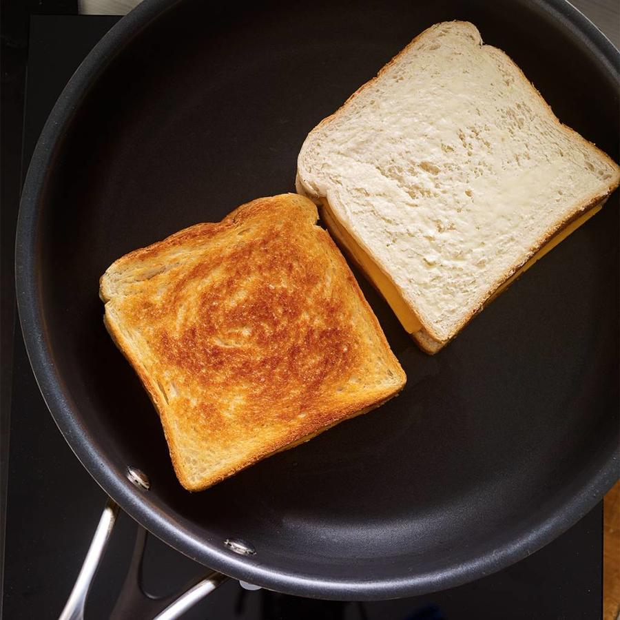 Poêle à frire en acier inoxydable 3-plis de 26 cm (10 po) - Photo 2