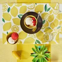 Bols à dessert jaune citron en bambou