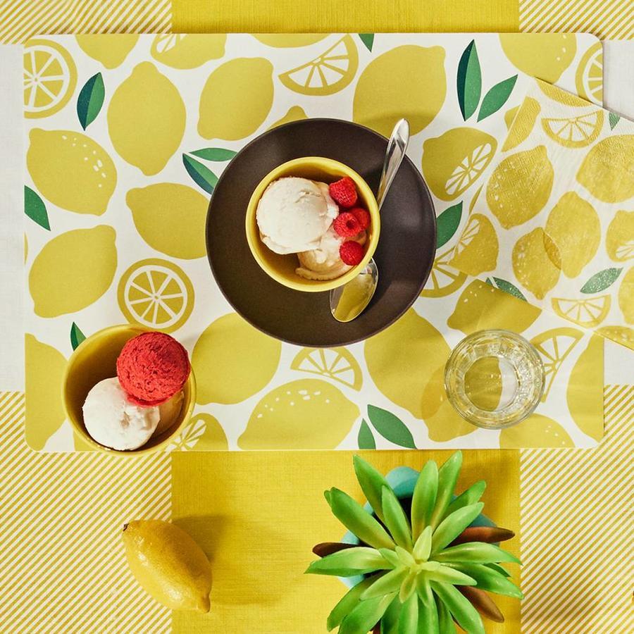 Bols à dessert jaune citron en bambou - Photo 1