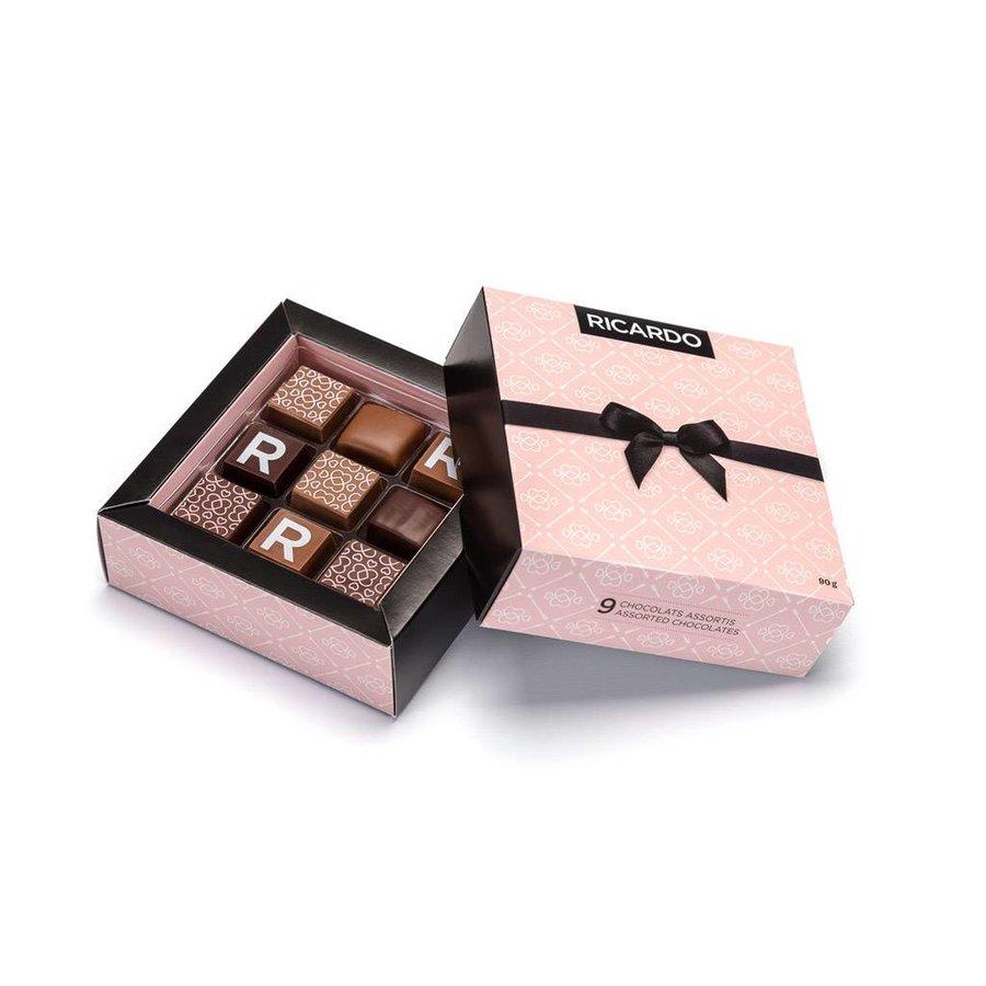 Boîte de chocolats de Saint-Valentin assortis de 9 morceaux - Photo 0