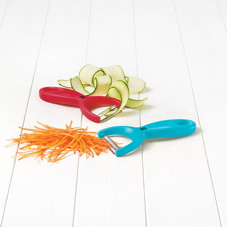 Set of Coloured Straight Handle and Julienne Peelers - Photo 1