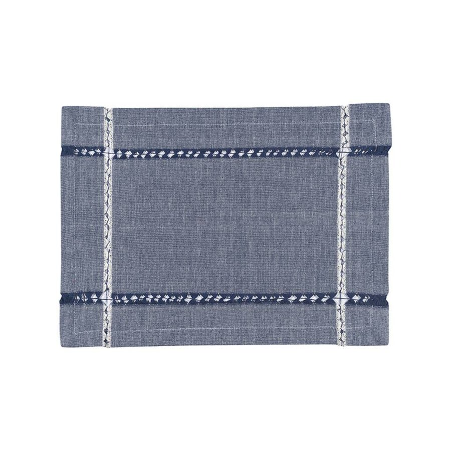 Denim-Look Woven Placemats - Photo 0