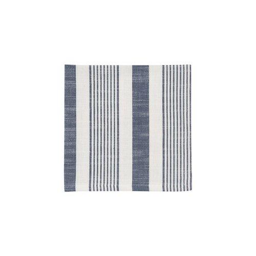 Serviettes de table tissées à rayures