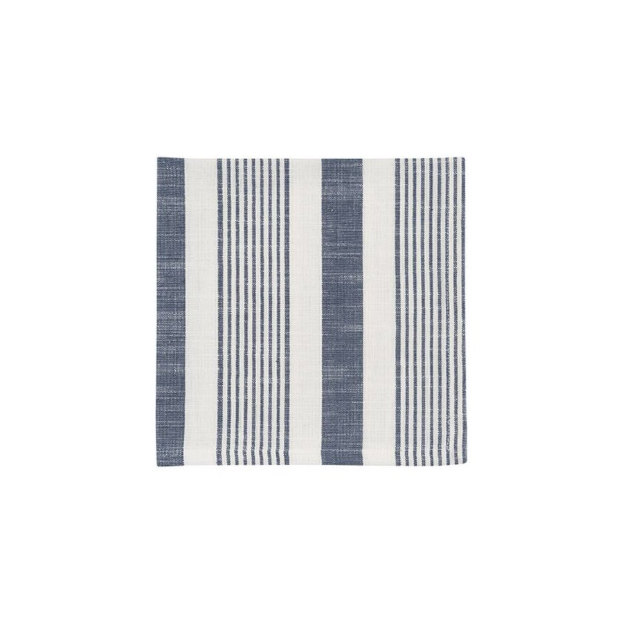 White and Blue Striped Napkins - Photo 0