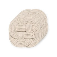 Set of 4 Cotton Rope Coasters