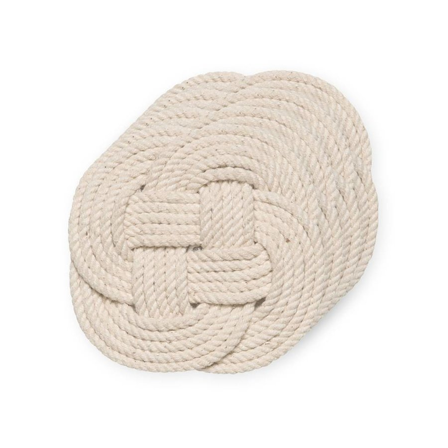 Set of 4 Cotton Rope Coasters - Photo 0
