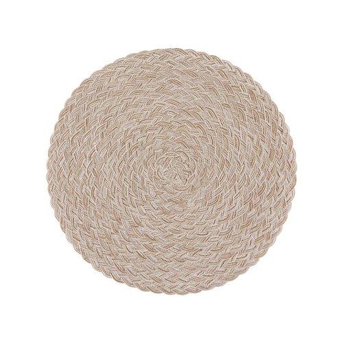 Round Beige Placemats