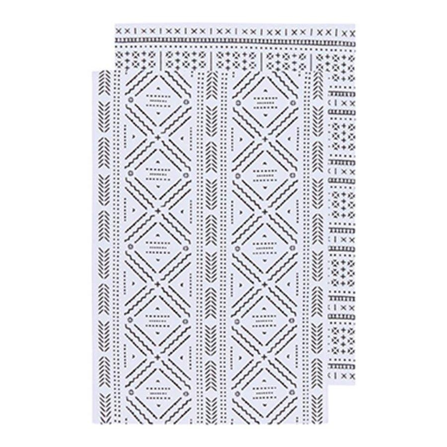 Ensemble de 2 linges à motifs aztèques - Photo 0