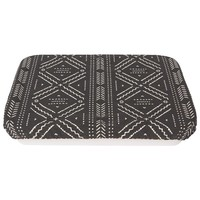 Reusable Black Cloth Dish Cover with Aztek Pattern