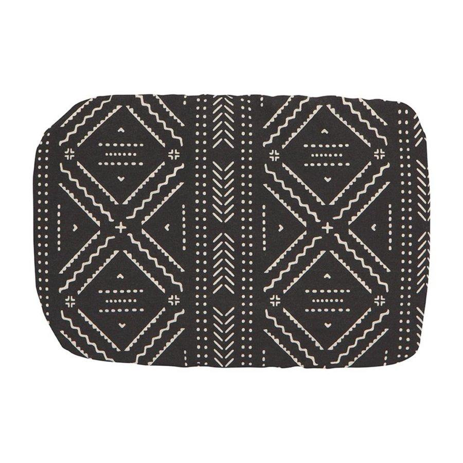 Couvre-plat réutilisable en tissu noir à motifs aztèques - Photo 1