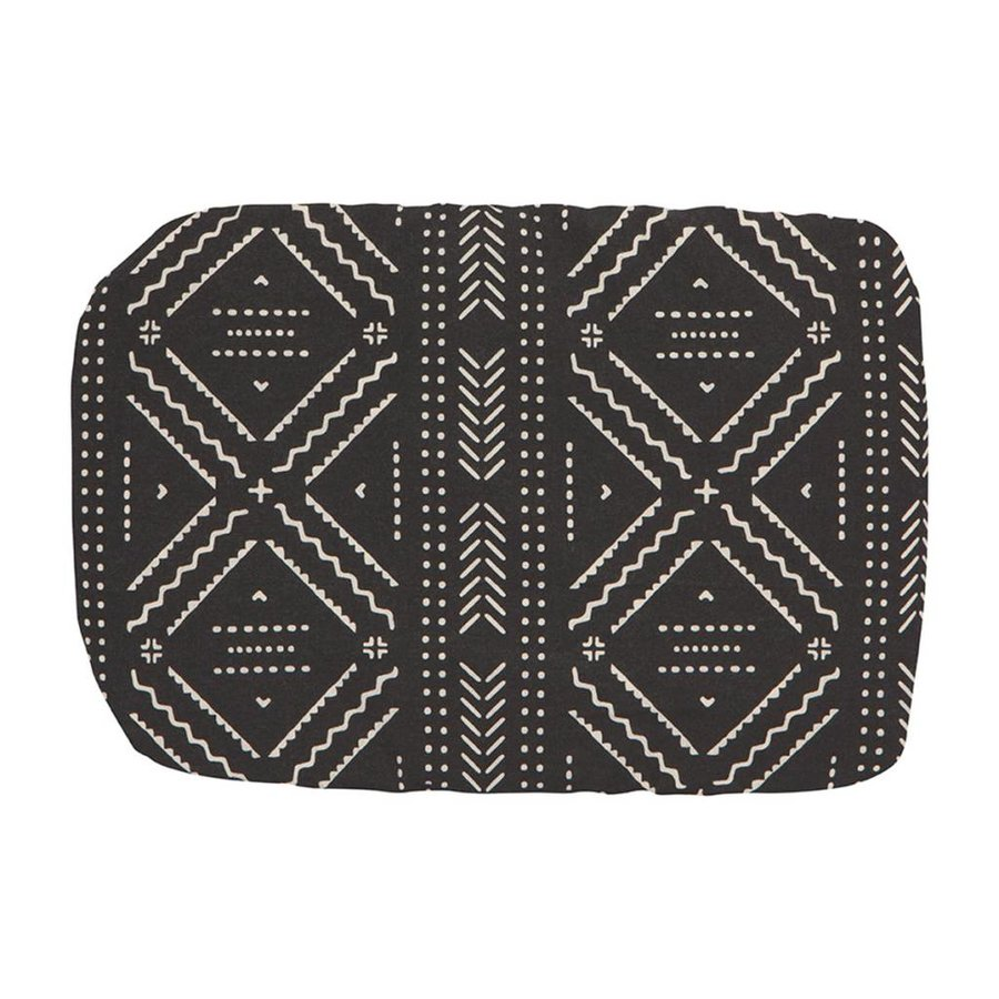 Reusable Black Cloth Dish Cover with Aztek Pattern - Photo 1