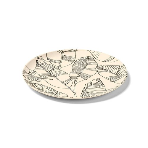 Sand-coloured Bamboo Plate