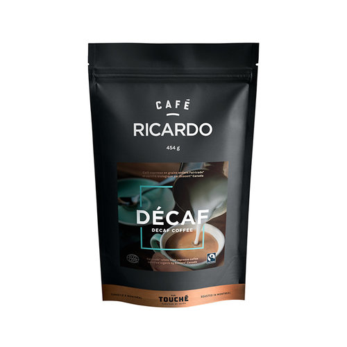 Bag of RICARDO Decaffeinated Ground Coffee, 454 g