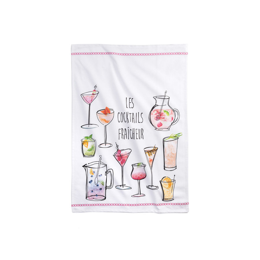 <i>Les Cocktail Fraîcheur</i> Tea Towel - Photo 0