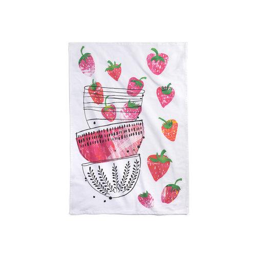 Linge «Temps des fraises»