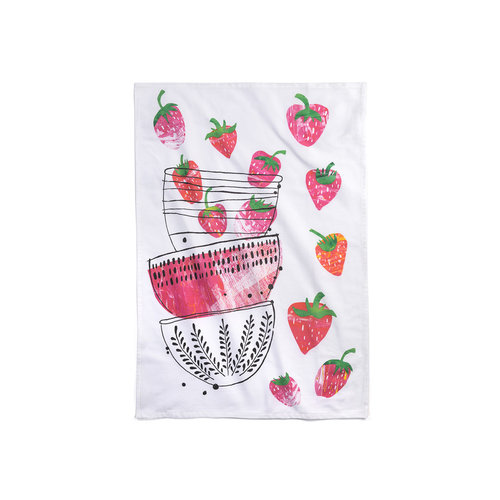 Strawberry Time Tea Towel