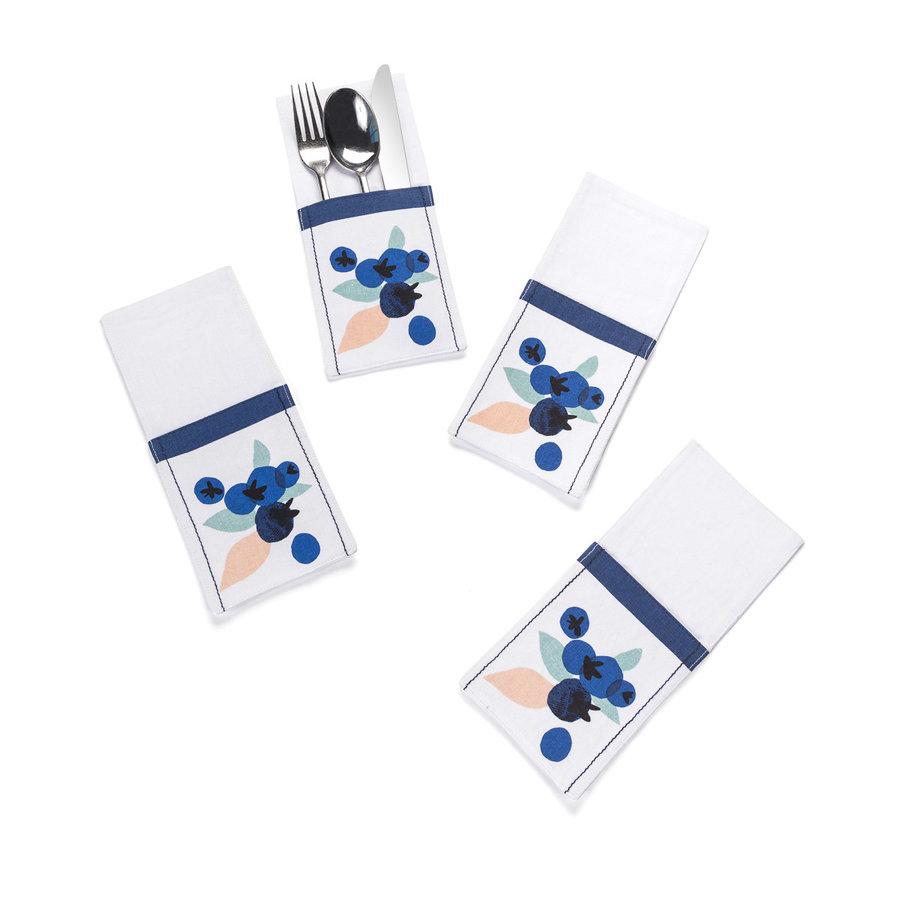Pochettes à ustensiles «Explosion de bleuets» - Photo 0