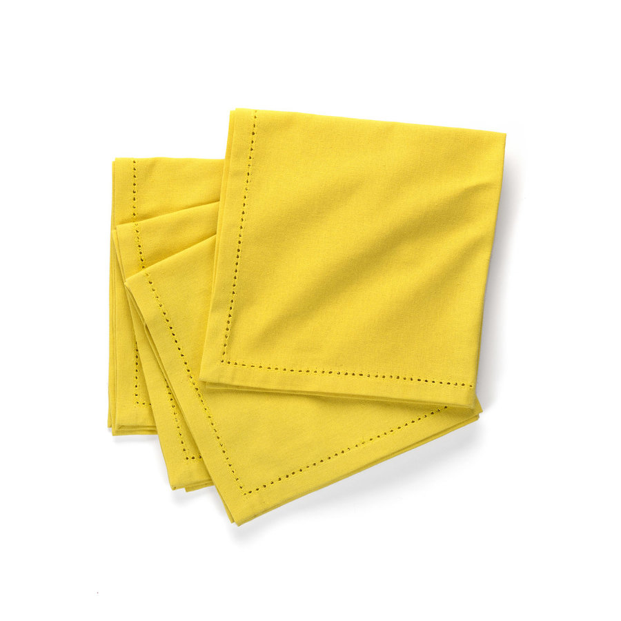 Serviettes de table jaune canari - Photo 0