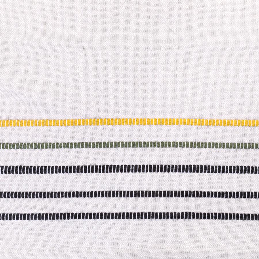 Vis-à-vis en chambray à rayures jaunes, vertes et noires - Photo 2