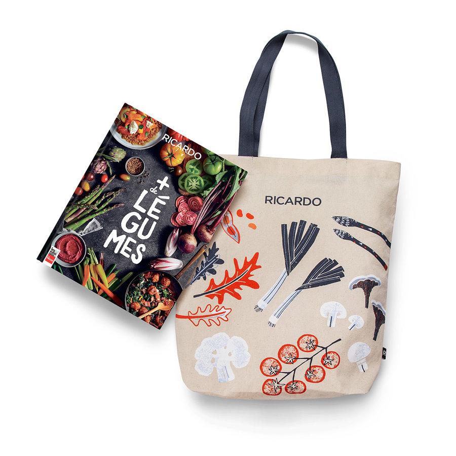 Combo livre <i>Plus de légumes</i> et sac à emplettes - Photo 0