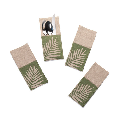 Fern Print Utensil Pockets