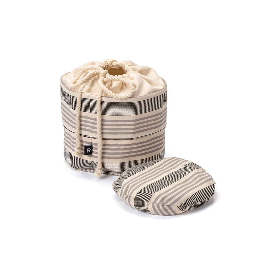 Chambray Bread Bag with Grey Stripes - Photo 1