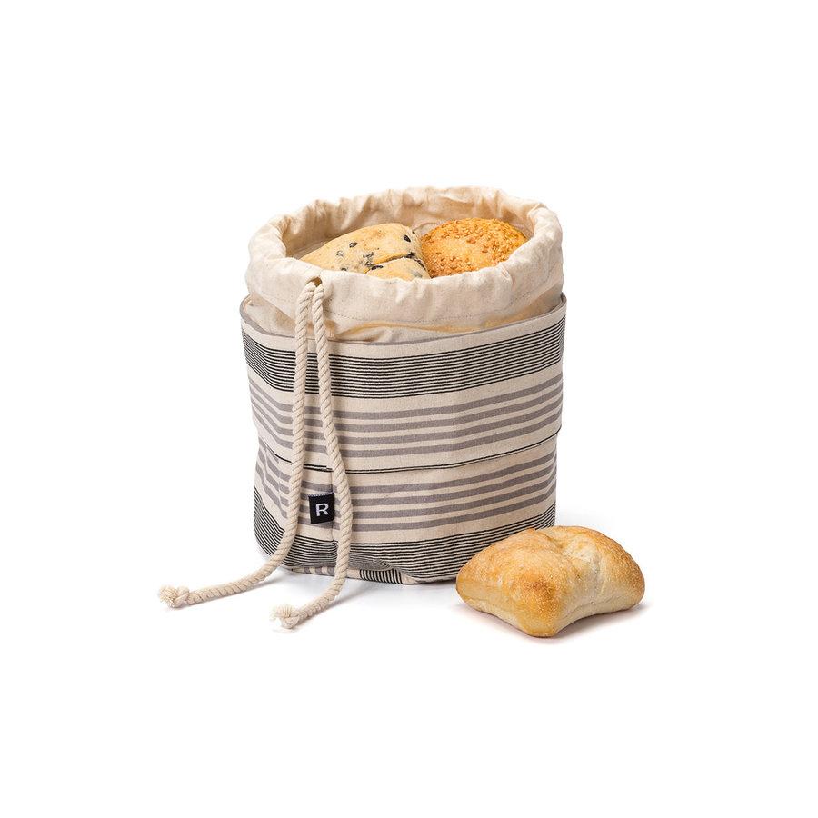 Sac à pain chaud chambray à rayures foncées - Photo 0