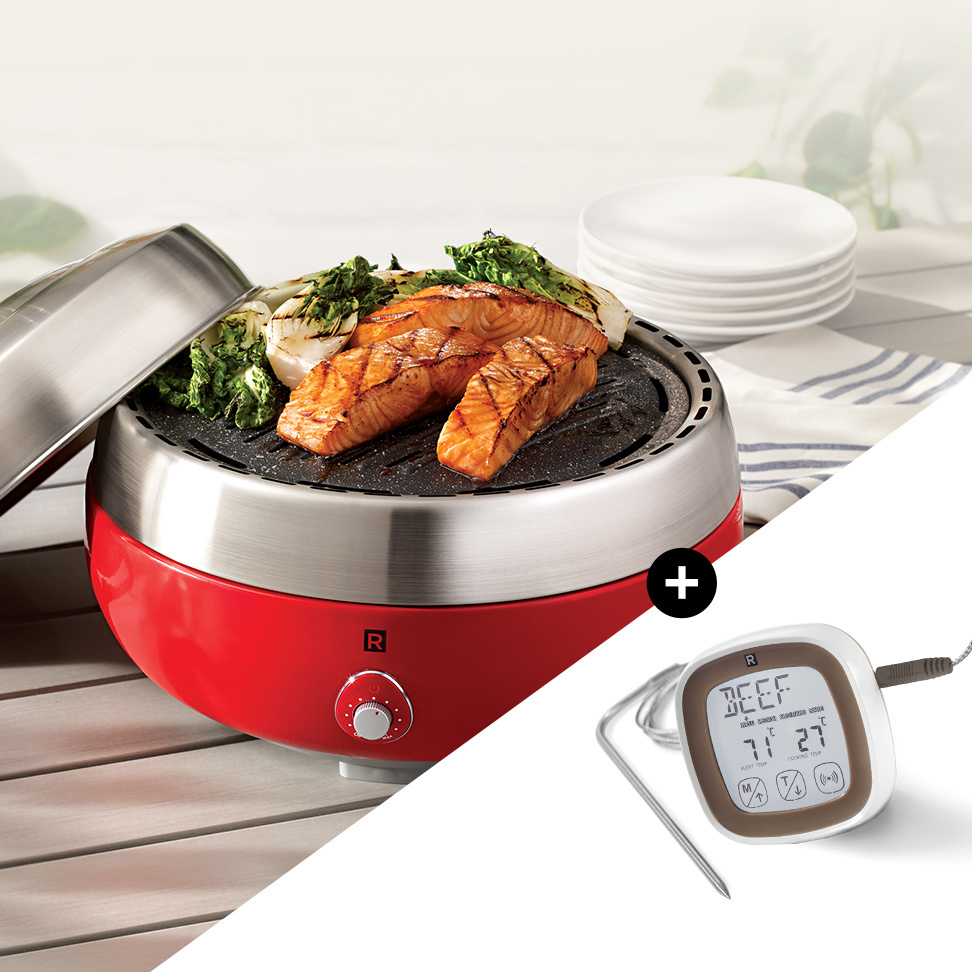 <strong>Buy the new barbecue</strong><span>As a gift: a digital cooking thermometer</span>