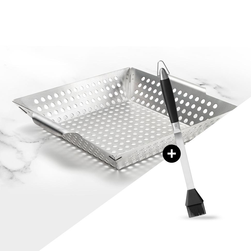 <strong>Achetez un wok à barbecue</strong><span>En cadeau : un pinceau à barbecue en silicone</span>
