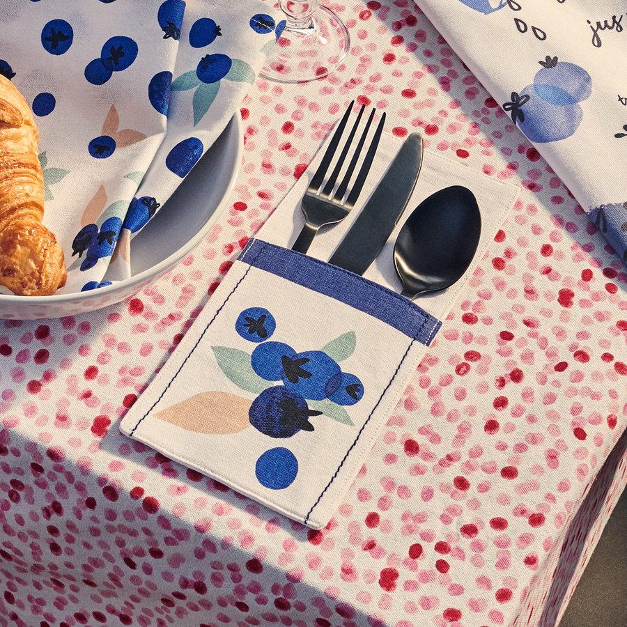 Pochettes à ustensiles «Explosion de bleuets» - Photo 1