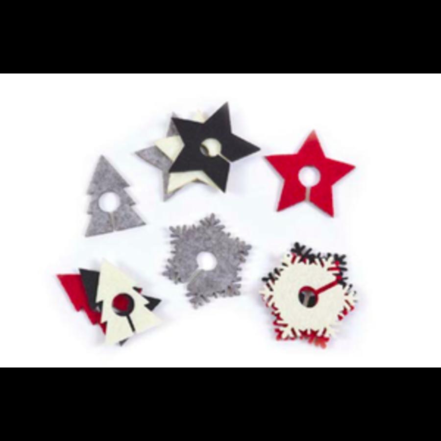 Marque-verres en forme d'étoiles et de sapins - Photo 0
