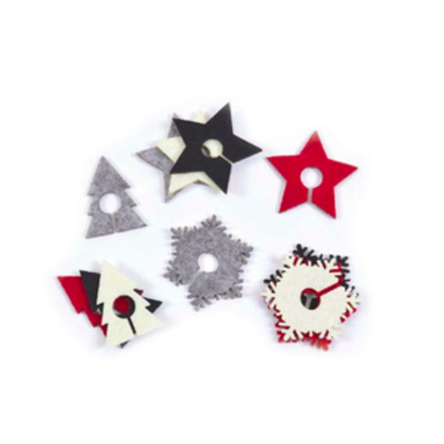 Star and Fir Tree Glass Charms - Photo 0