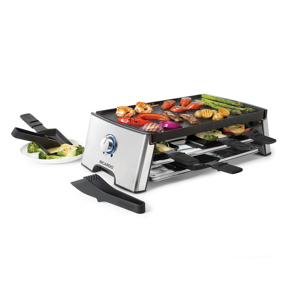 RICARDO Reversible Electric Raclette Set (18 pieces) - Photo 1