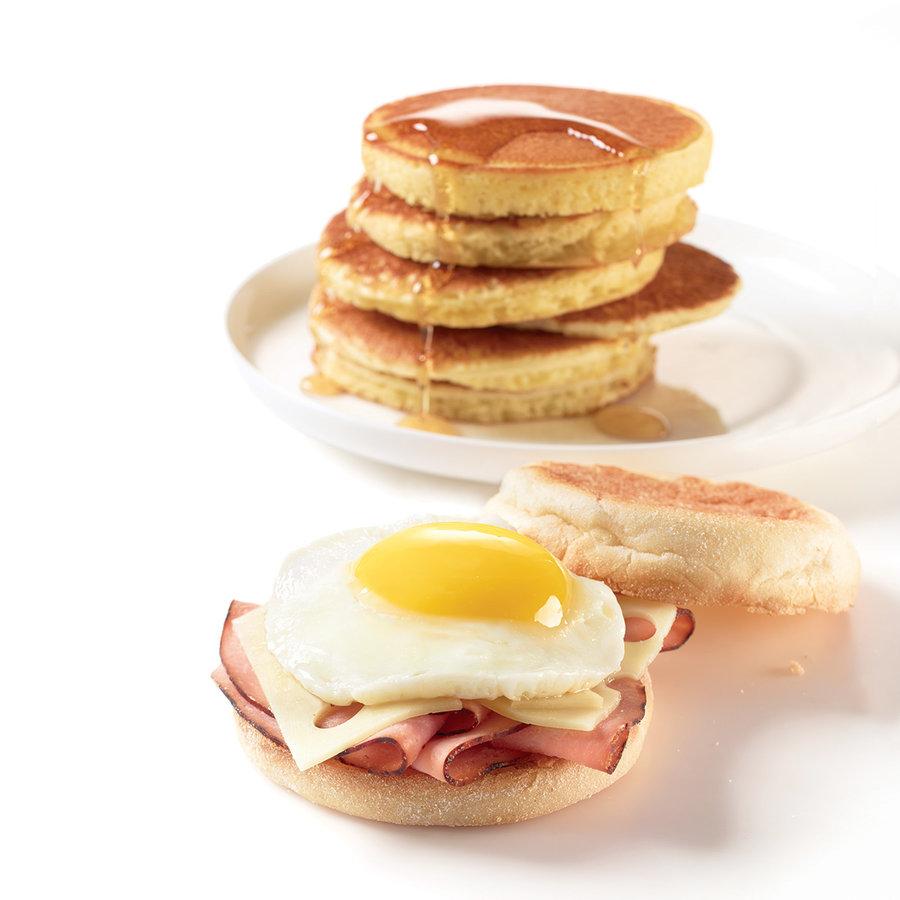 Ensemble de 2 anneaux pour œufs et pancakes réversibles en silicone - Photo 1