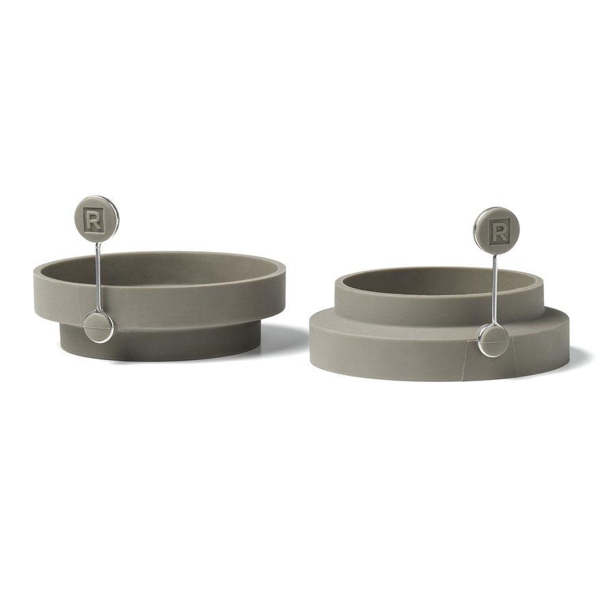 Ensemble de 2 anneaux pour œufs et pancakes réversibles en silicone - Photo 0