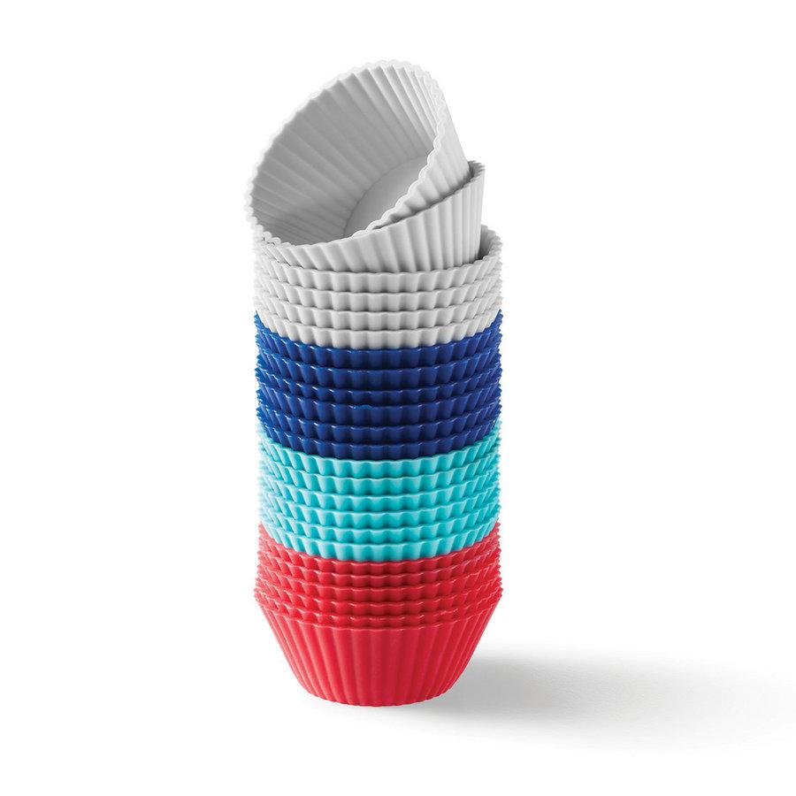 Ensemble de 24 mini moules à muffins individuels en silicone - Photo 0