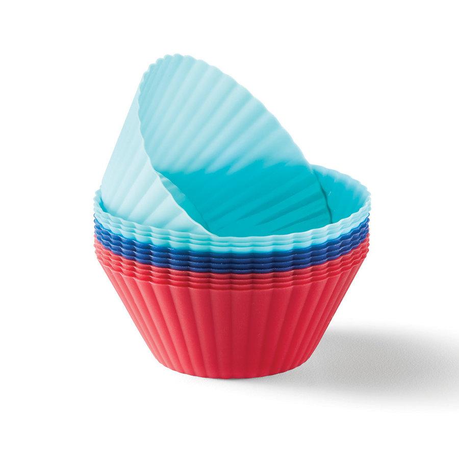 Ensemble de 12 moules à muffins individuels en silicone - Photo 0