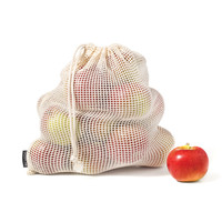 Set of 4 Reusable Cotton Fruit and Vegetable Bags
