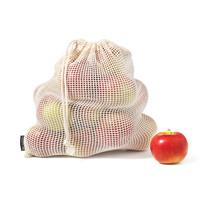 Ensemble de 4 sacs réutilisables pour fruits et légumes en coton
