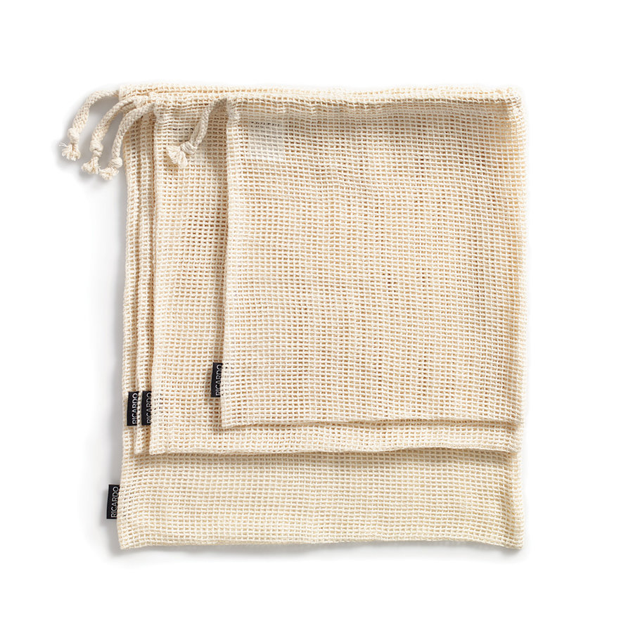 Set of 4 Reusable Cotton Fruit and Vegetable Bags - Photo 0